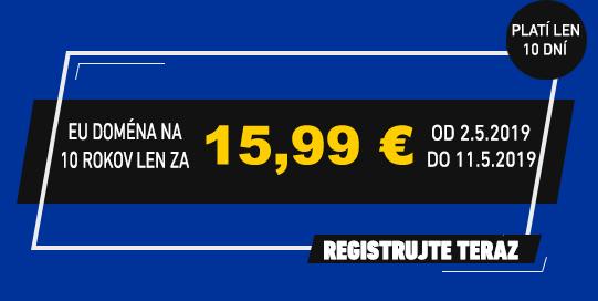 .eu na 10 rokov len za 15.99 €